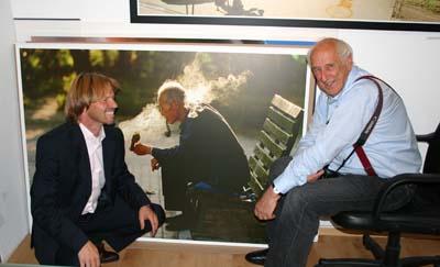 07-09-2014 Vernissage Tomas Hoepker mit Stephen Hoffman