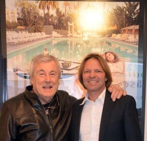 Terry ONeill und Galerist Stephen Hoffman 2013, Foto: Helga Waess