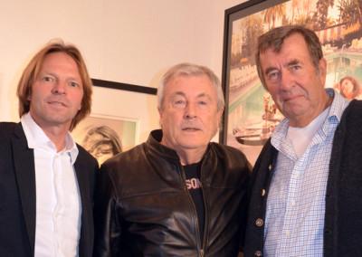 Eckhart Schmidt mit Terry ONeill und Stephen Hoffman 2013, Galerie Stephen Hoffman - München, Foto: Helga Waess