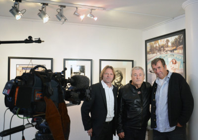 Eckhart Schmidt interviewte 2013  Terry ONeill, hier mit Stephen Hoffman, GSH, Foto: Helga Waess