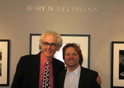 Jerry N. Uelsmann und Galerist Stepehen Hoffman, Foto: Helga Waess