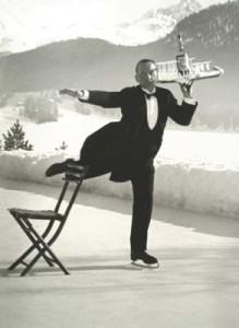 Alfred Eisenstaedt (1898-1995) René Breguet, Ice Skating Waiter, St. Moritz, Galerie Stephen Hoffman