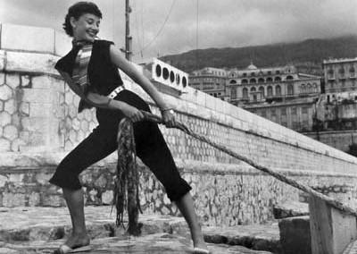 Quinn_Audrey Hepburn, Monaco 1951