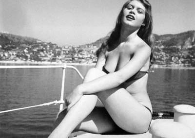 Quinn_Brigitte Bardot Villefranche Harbour 1952