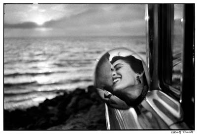"USA. California Kiss. 1955. From ""Personal Exposures."" ©Erwitt/Magnum Photos"