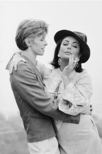 Terry O'Neill, David Bowie and Liz Taylor