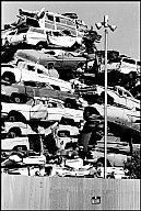 Denis Strock, PAR143578 - wrecked car dump, Compton, 1968