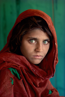 Steve McCurry, Shabat Gula, Afghan Girl, 1984