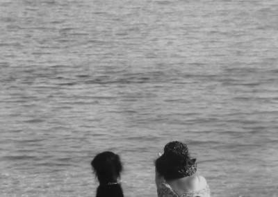 Dame mit Barsoi, Insel Elba, 1976, copyright stefan moses