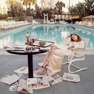 Terry O'Neill, Faye Dunaway - 1977 - das ICON-PHOTO entstand am Morgen nach der Oscar-Verleihung für die Filmsatire