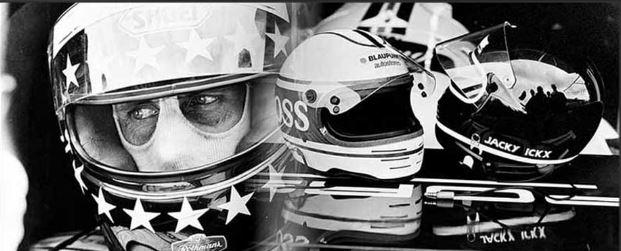Werner Eisele - Hans-Joachim Stuck, Moderne Helme für die Fahrer der Weltmeisterschaft 1985, Galerie Stephen Hoffman, München