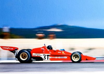 Werner Eisele, Jacky Ickx Ferrari – F1 Grand Prix France 1973