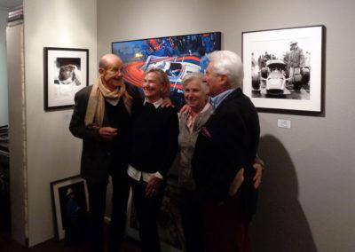 Werner EIsele trifft Rock'n Roll Star-Sänger Tommy Kent am 12. Oktober 2017 in der Galerie Stephen Hoffman , Foto: Helga Waess