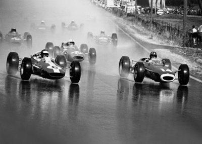 Werner Eisele, Fahrt ins Blaue! , Formel-1-Start auf der Stuttgarter Solitude 1964, Jim Clark im Lotus Nr. 6, Galerie Stephen Hoffman