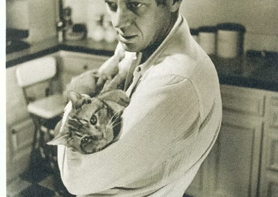 William Claxton, Steve McQueen - with Kitty