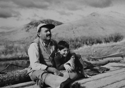 Robert Capa, Ernest Hemmingway and his son Gregory in Sun Valley, Idaho, Galerie Stephen Hoffman
