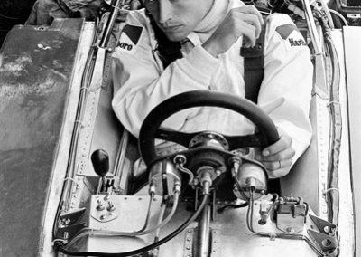 Werner Eisele - Jacky Ickx - Sitzprobe im neuen Ferrari 312 B3 - -Formel–1 Grand–Prix von Frankreich 1973